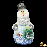Свеча Снеговик сказочный
