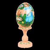 Пасхальное яйцо деревянное с ручной росписью С праздником