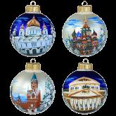Набор ёлочных шаров ручной работы Москва