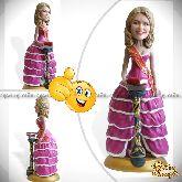 Кукла шарж девушке «Элегантная выпускница» 20см.