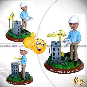 """Заказать шарж строителю """"Наше дело- небоскребы"""""""