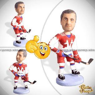 Кукла шарж хоккеисту по фото «Лучший игрок»