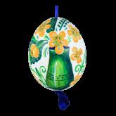 Пасхальное яйцо куриное на ленте Ваза с цветами