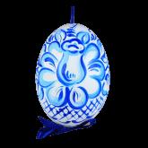 Пасхальное яйцо куриное на ленте Гжель