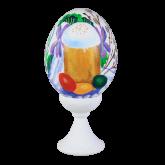 Пасхальное яйцо куриное на подставке Пасхальный кулич