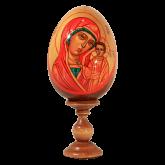 Пасхальное яйцо деревянное с ручной росписью Казанская Божья Матерь