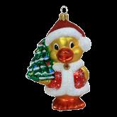 Ёлочная игрушка из Польши Санта-Утка