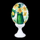 Пасхальное яйцо куриное на подставке Ваза с цветами