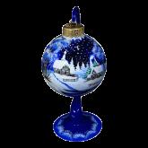 Ёлочный шар ручной работы на подставке Лисица