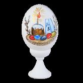 Пасхальное яйцо куриное на подставке Пасха