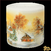 Свеча фонарик Новогодний пейзаж