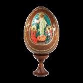 Пасхальное яйцо деревянное с наклейкой  Троица