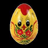 Пасхальное яйцо деревянное с ручной росписью С Пасхой!