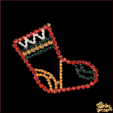 Ёлочная игрушка ручной работы пр-во Чехия Рождественский носок