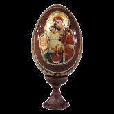 Пасхальное яйцо деревянное с наклейкой Достойно Есть