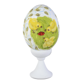 Пасхальное яйцо куриное на подставке Божья коровка