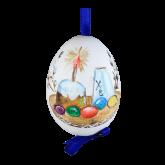 Пасхальное яйцо куриное на ленте Пасха