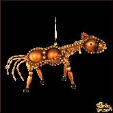 Ёлочная игрушка ручной работы пр-во Чехия Лошадь