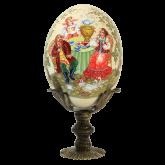 Пасхальное яйцо страусиное Чаепитие