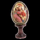 Пасхальное яйцо деревянное с наклейкой Божья Матерь Феодоровская