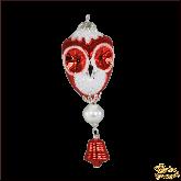 Ёлочная игрушка ручной работы пр-во Чехия Капли с совой