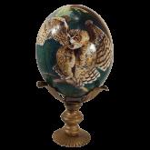 Пасхальное яйцо страусиное Филин