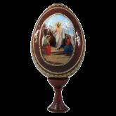 Пасхальное яйцо деревянное с наклейкой  Воскресение Христово