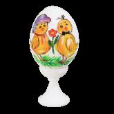 Пасхальное яйцо куриное на подставке С Праздником Пасхи