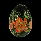 Пасхальное яйцо деревянное с ручной росписью Хохлома