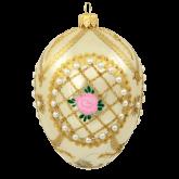 Ёлочная игрушка из Польши Яйцо перламутровое