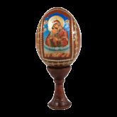 Пасхальное яйцо деревянное с наклейкой Божья Матерь Пачаевская