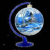 Ёлочный шар ручной работы на подставке Зимняя тишина