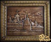 Резное панно «Соловецкий монастырь»