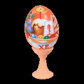 Пасхальное яйцо куриное на подставке Пасхальный стол