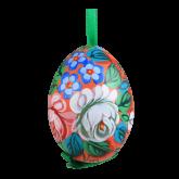 Пасхальное яйцо куриное на ленте Жостово