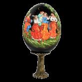 Пасхальное яйцо деревянное Пляска