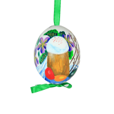 Пасхальное яйцо куриное на ленте Пасхальный кулич