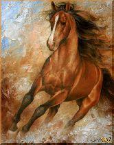 Бегущий конь, картина, Модерн животный мир №10