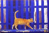 Рыжий кот, картина, Модерн животный мир №11