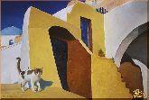 Кошка на улице, картина, Модерн животный мир №13