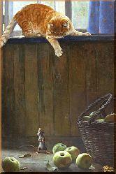 Кот и мышь, картина, Модерн животный мир №14