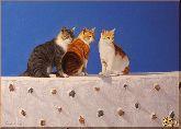 Три кошки, картина, Модерн животный мир №19