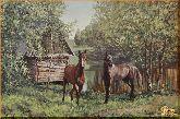 Два коня, картина, Модерн животный мир №28