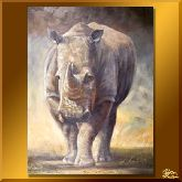 Носорог, картина, Модерн животный мир №2