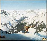 Горный орел, картина, Модерн животный мир №31