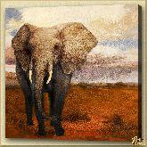 Одинокий слон, картина, Модерн животный мир №39