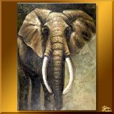 Слон, картина, Модерн животный мир №3