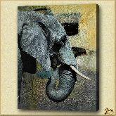 Азиатский слон, картина, Модерн животный мир №40