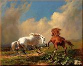 Игривые кони, картина, Модерн животный мир №42