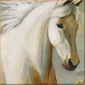 Белая лошадь, картина, Модерн животный мир №44